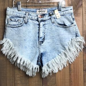 Vibrant Denim Shorts Size Medium